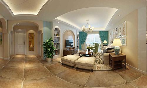15万装出136平米中西合璧风格-全景宁夏·全景360设计