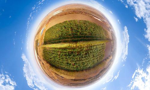 果園航拍全景360