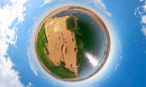 納林湖航拍全景360